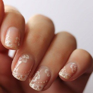 Lace Manicure- Nailed It! 12 Nail Art Designs for Your Wedding Day