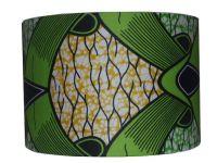 Apple Green Abstract Lamp Shade, 30cm Drum in Ankara ...