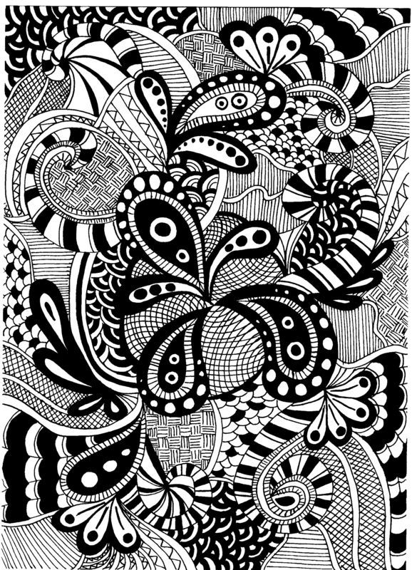 zentangle  My Aunt just showed me patterns and how to start drawing like this. It's a nice quiet time thing I can do while the baby is sleeping and housework is already caught up.