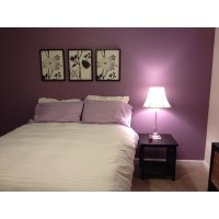 Purple accent wall | For the Home | Pinterest