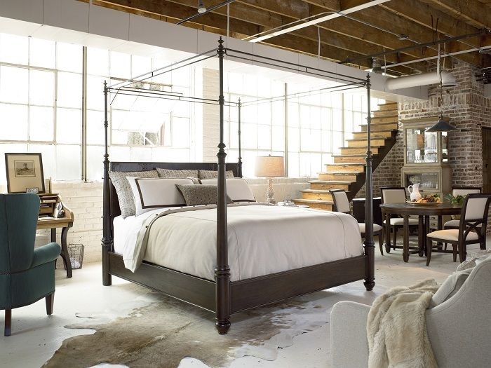 Love everything about this space! #bedroom #loft #neutral