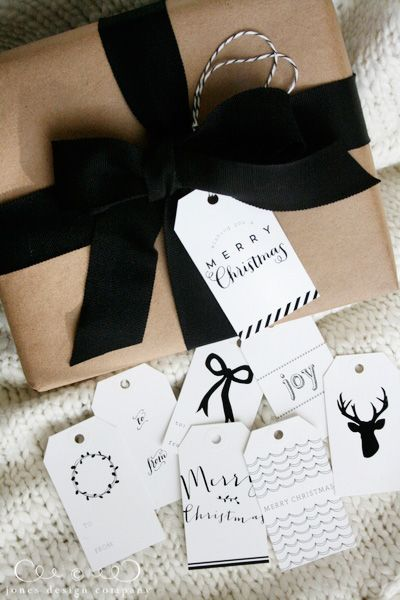 make your gift wrapping lovely with woodland christmas tags & gift wrap guide