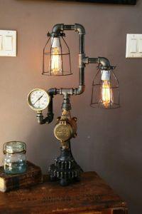industrial/steampunk gear lamp | unique | Pinterest