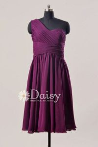 Dark Purple Vintage Bridesmaid Dress,Plum Short Bridal ...