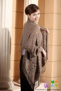 shawl with sleeves | Crochet Ideas | Pinterest
