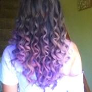 purple prom hair