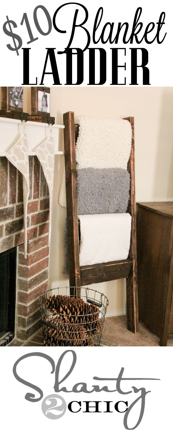 Blanket Ladder! Could work for towels too.