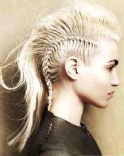 french braid mohawk hairstyles