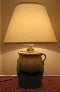 Stoneware Jug Lamp | You Light Up My Life.. | Pinterest