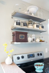 Freckleschick: ikea shelves above stove