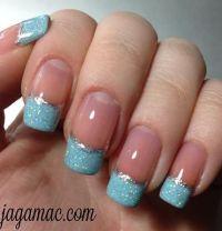 Cinderella inspired nails! | nail art | Pinterest