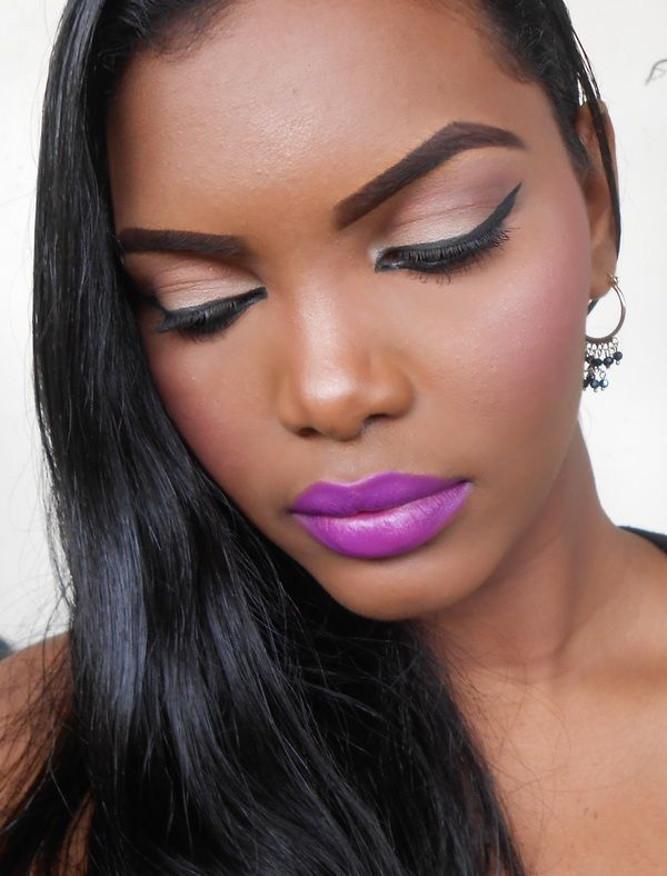 mac heroine lipstick on dark skin
