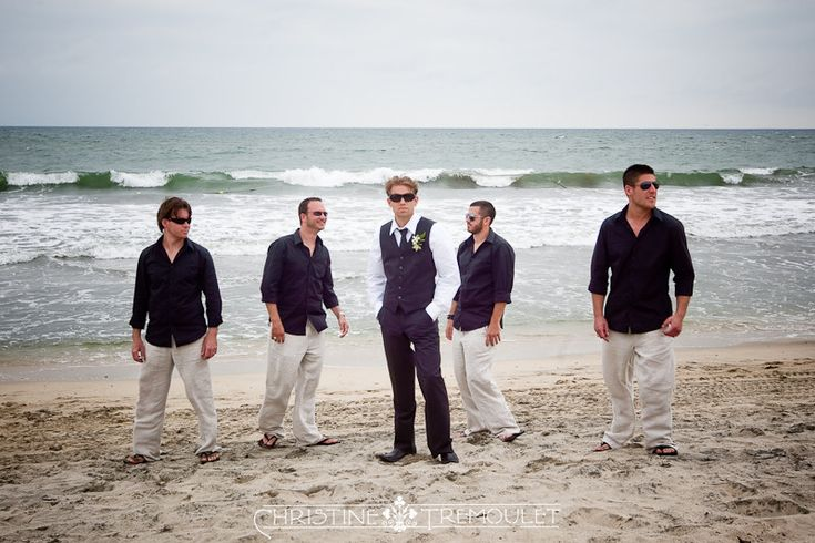 Groomsmen beach wedding outfits  Dream Wedding  Pinterest