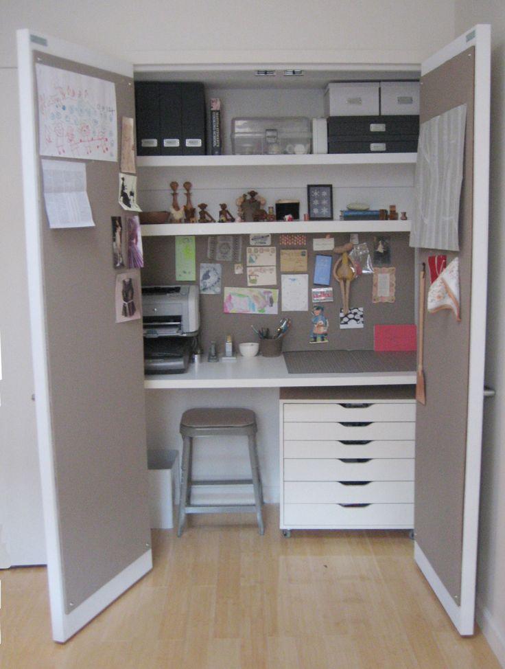 Closet desk  Craft Room Ideas  Pinterest