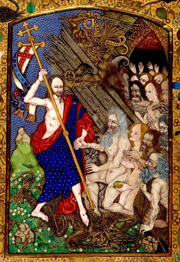 Harrowing of Hell. England/Netherlands 1490-1510. Harley 1892. BL / Tony Harrison