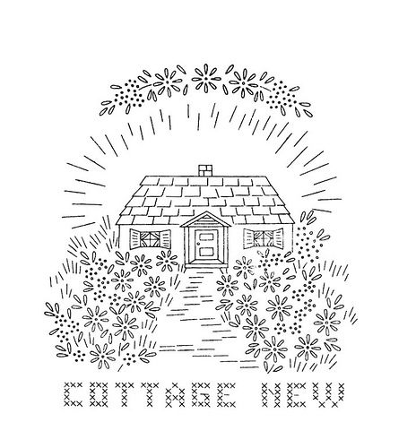 English Cottage Coloring Page Coloring Pages
