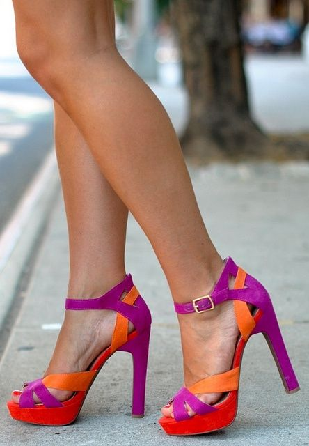 Beautiful colors       #shoes  #pumps