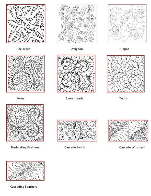 Longarm Quilting Design Patterns