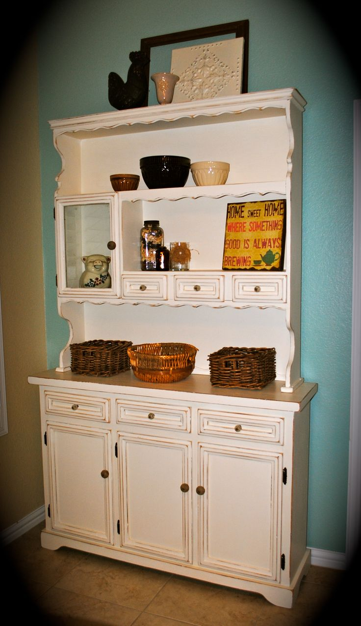 Shabby Chic Antique White French Country Kitchen Home Ideas
