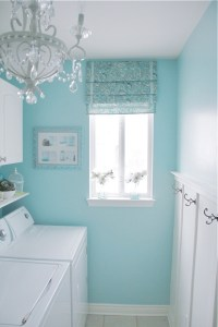 Tiffany Blue laundry room | For the Home | Pinterest