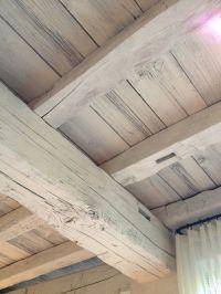 White washed wood beams | Decorating Ideas | Pinterest