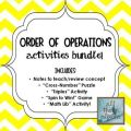 Order of operations notes amp activities bundle 15 included quot triples