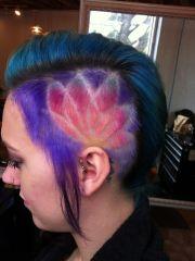 creative hair color undercut