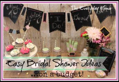 Bridal Shower Ideas On A Budget
