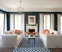 Navy & White   Living Room Inspirations   Pinterest