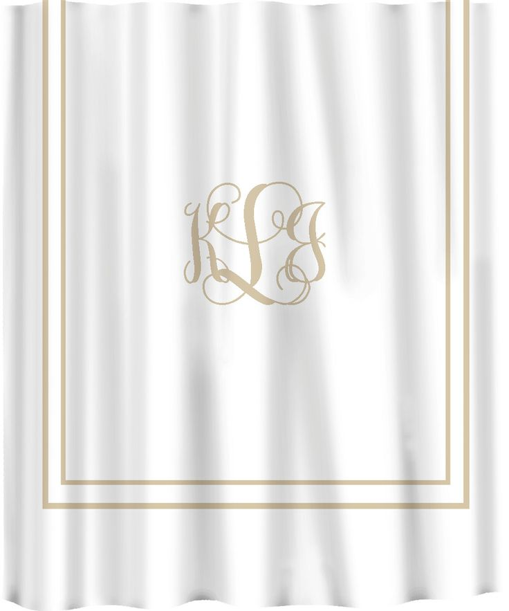 Custom Shower Curtain Simplicity in White or Cream with