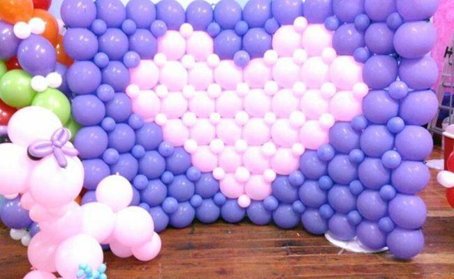 Balloon Wall Decoracion Con Globos Pinterest