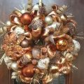 Elegant copper plaid and burlap christmas wreath by hertaswreaths