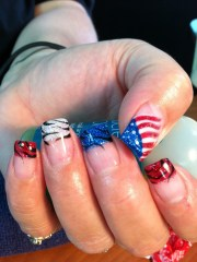 fourth of july. gel nail art