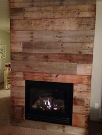 Reclaimed barn wood fireplace makeover!   DIY...   Pinterest