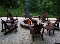 Fire pit with Adirondack chairs | Odena Firepit | Pinterest