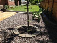 Crushed granite gravel patio | Brick House Ideas | Pinterest