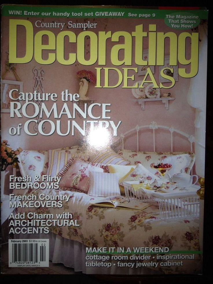 Country Samplers Decorating Ideas Magazine February 2003