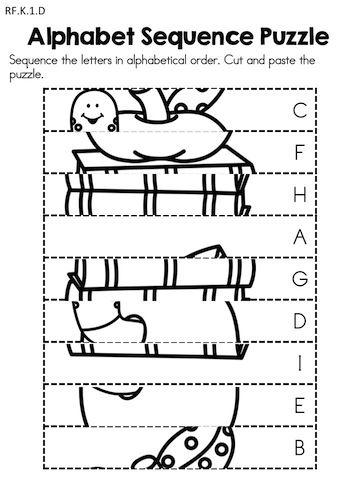 Back to School Kindergarten Language Arts Worksheets