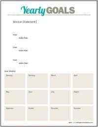 Goal Planning Worksheet | .Organization. | Pinterest