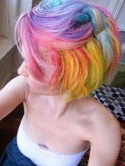 pastel rainbow hair hairstyle