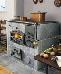Soapstone cook stove by tulikivi.   Stoves   Pinterest