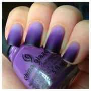 purple matte ombre nails