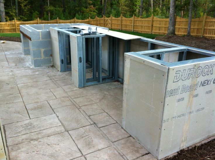 building outdoor kitchens  House ideas  Pinterest