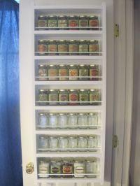 Spice rack behind pantry door | Organization | Pinterest