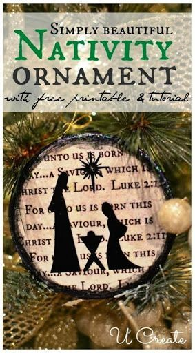 Make a beautiful nativity ornament!
