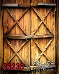 Photography Backdrop, Rustic Wood Barn Door Scenic Photo ...