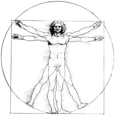 Vitruvian Man :: Symbol of the Perfect Man, and the