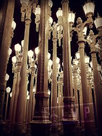 Urban Light at Night, LACMA Public Art, Lamp Posts, Los ...