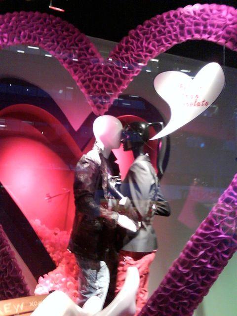 valentines mannequin display
