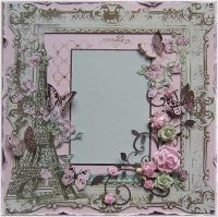 Shabby Chic Premade 12x12 Scrapbook Layout,Paris,France